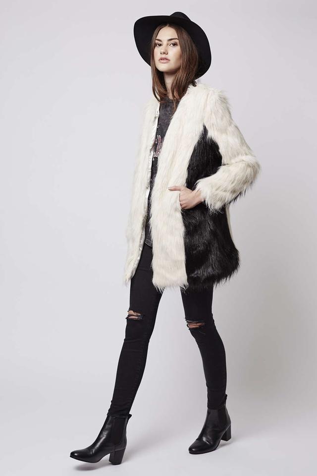 Topshop Milky Way Faux Fur Coat