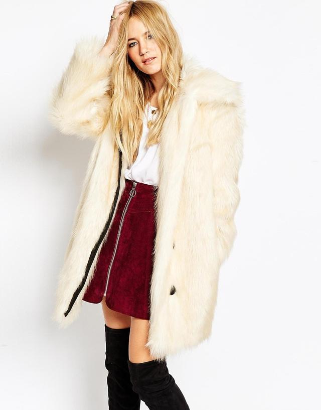 ASOS Coat in Faux Fur