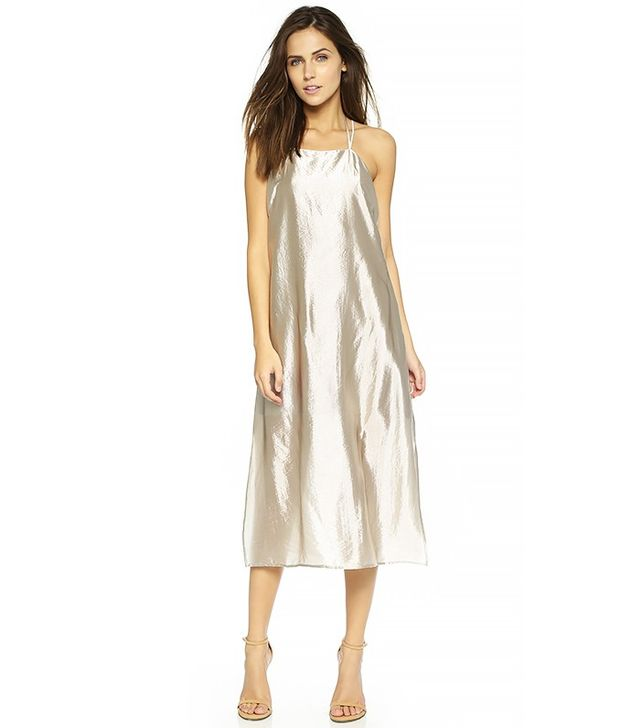 Rebecca Minkoff Metallic Slip Dress