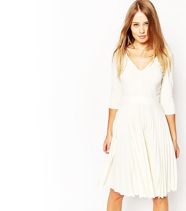 ASOS Pleated Mini Dress in Crepe