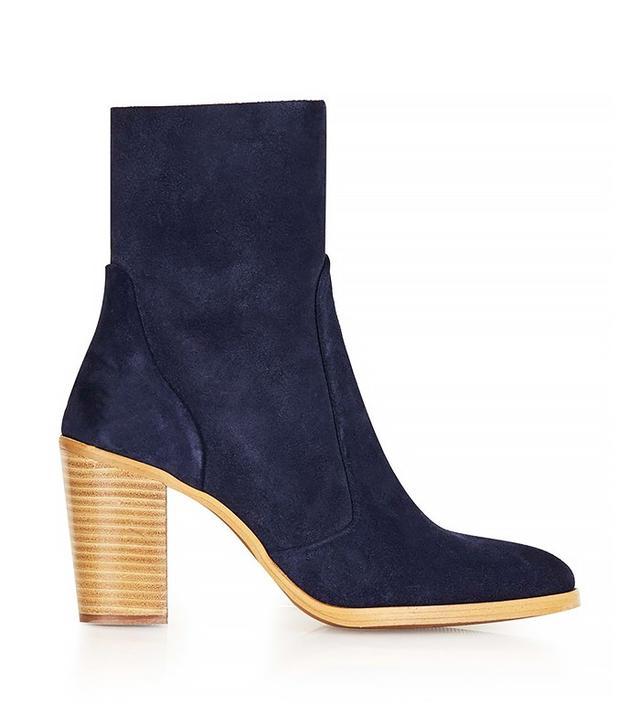Topshop Magnificent Suede Sock Boots