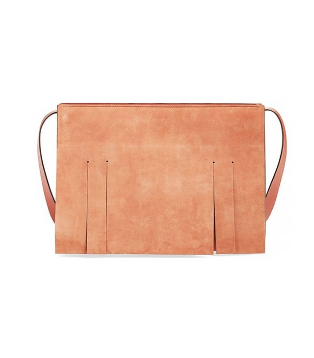 Vince Medium Fringe Suede Shoulder Bag