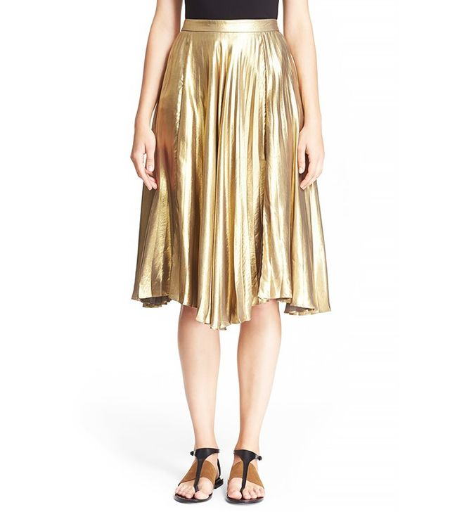 A.L.C. Gates Metallic Pleat Skirt