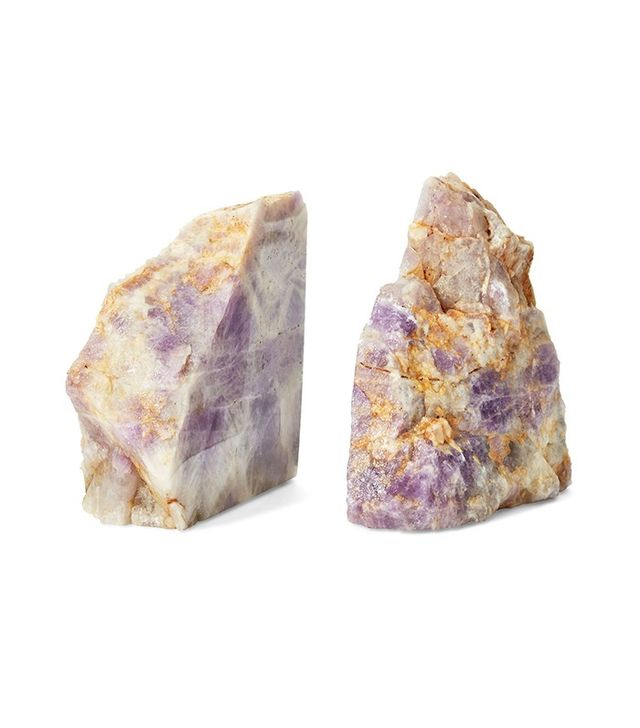 Set of 2 Amethyst Bookends
