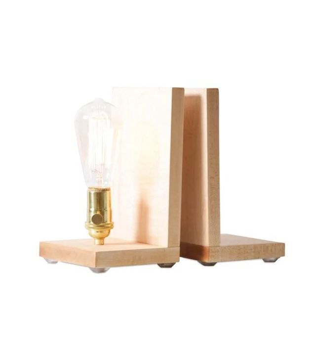 Worley's Lighting Lighted Bookends, Maple