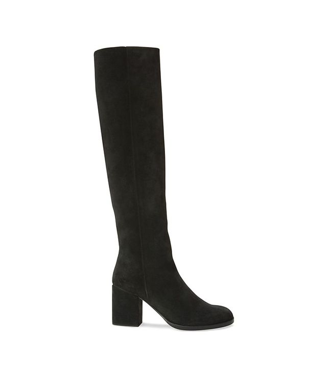 Helmut Lang Suede Pull-On Tall Boot