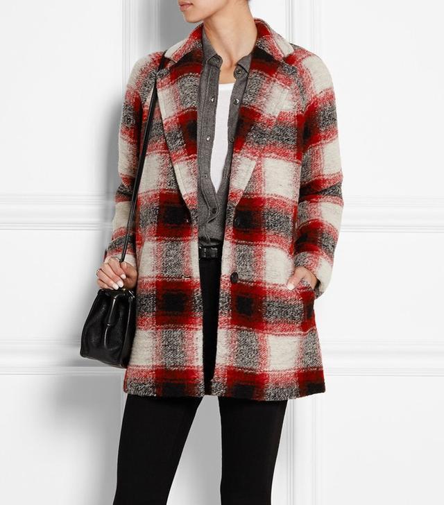 Madewell Plaid Wool-Blend Coat
