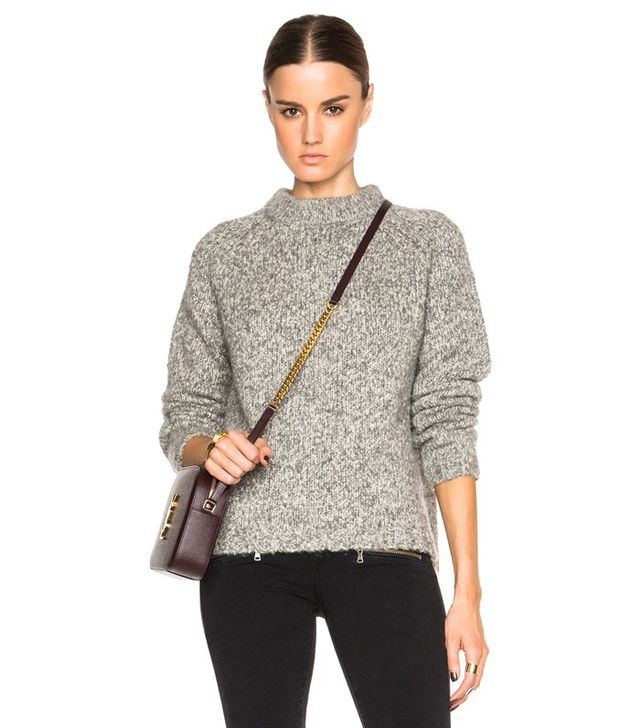 James Perse Stand Up Collar Sweater