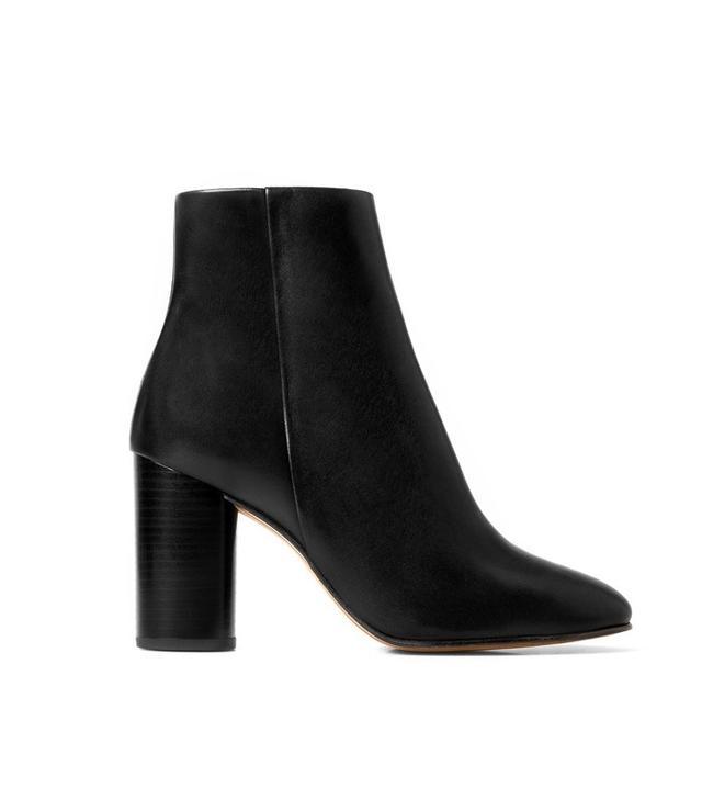 Mango Premium-Leather Heel Ankle Boots