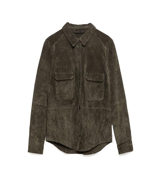 Zara Leather Overshirt