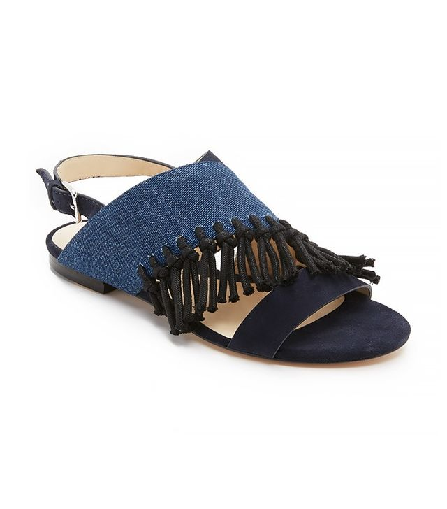 3.1 Phillip Lim Martini Fringe Flat Sandals