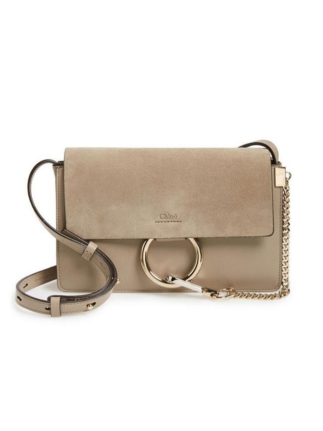 Chloé Small Faye Shoulder Bag in Motty Gray