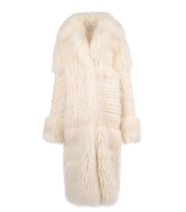 Stella McCartney Fur Free Fur Ivory Nyla Coat