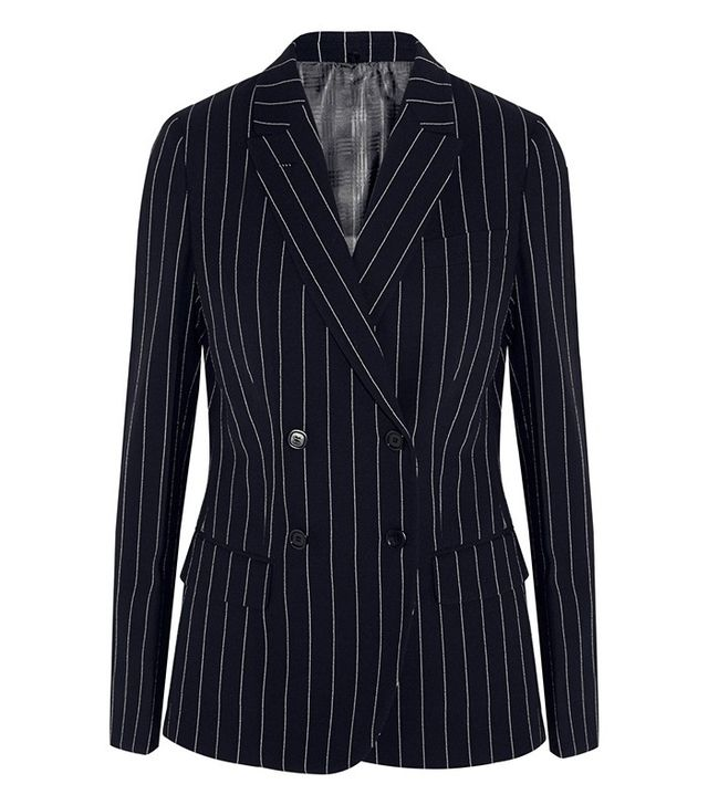 Agnona Pinstriped Wool-Blend Blazer