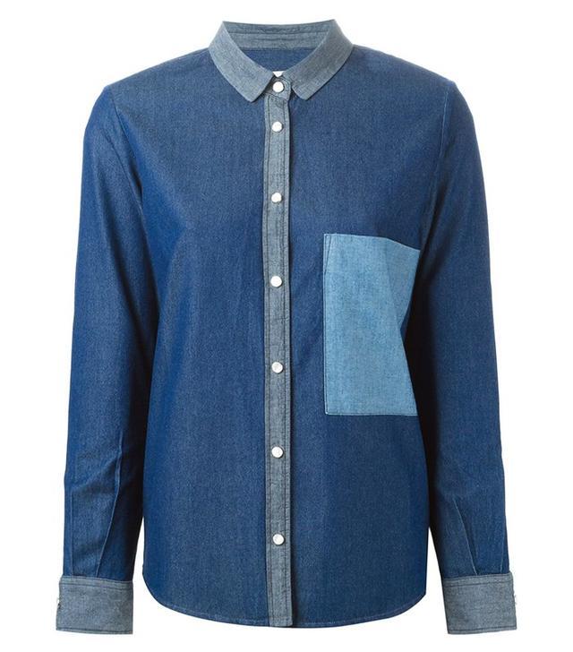 Golden Goose Deluxe Brand Chest Pocket Denim Shirt