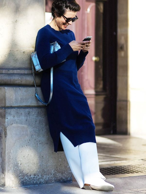 Tunic Sweater + Sleek Pants + Flats