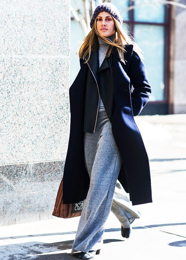Coat + Leather Jacket + Monochromatic Separates