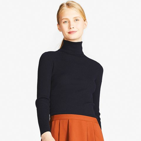 Extra Fine Merino Ribbed Turtleneck Sweater