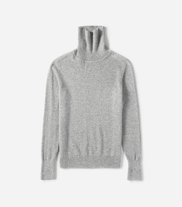 Women's The Cashmere Turtleneck Sweater by Everlane in Heather Grey, Size M
