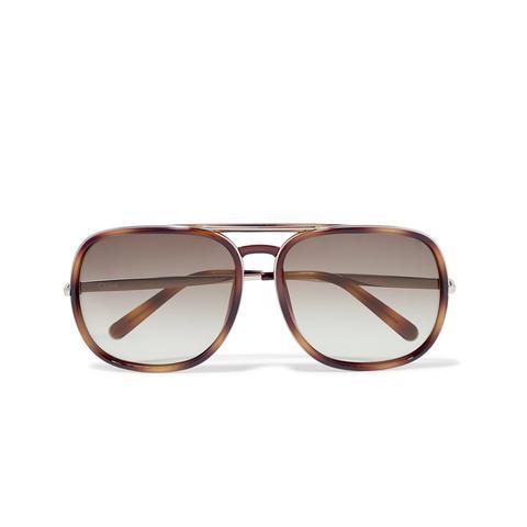 Nate Aviator-Style Tortoiseshell Acetate Sunglasses