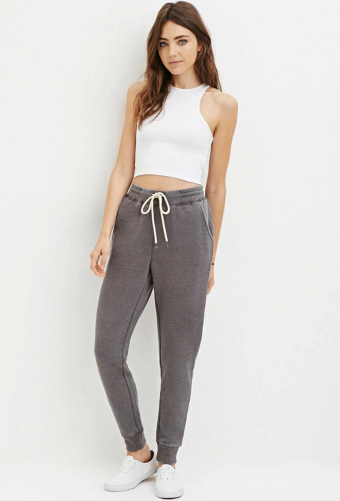 Forever 21 Heathered Drawstring Sweatpants