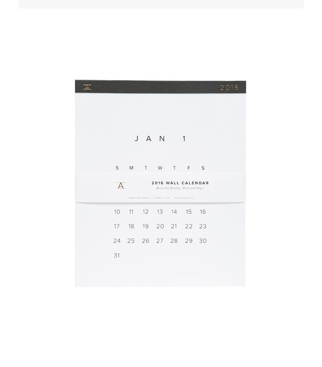 Appointed Wall Calendar