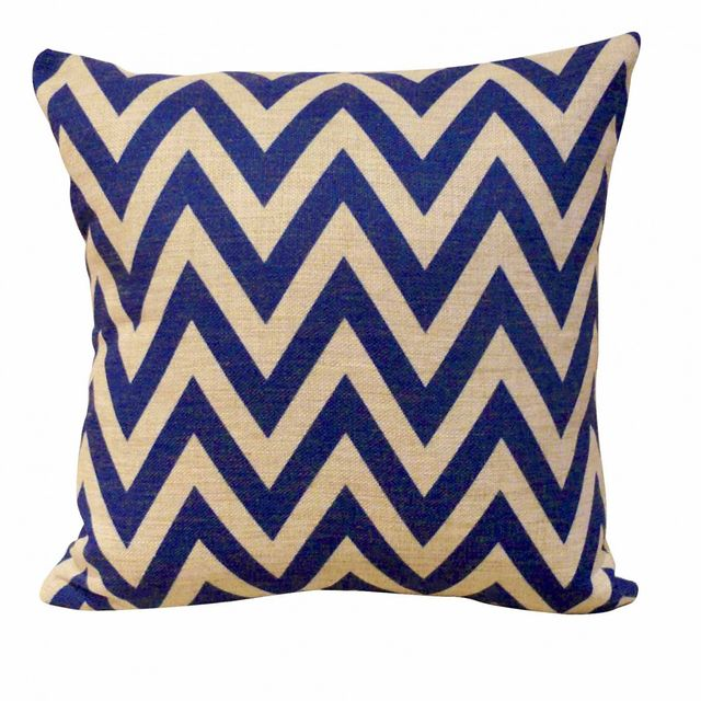 Urban Igloo Design Sneaky Chevron Blue Cushion Cover