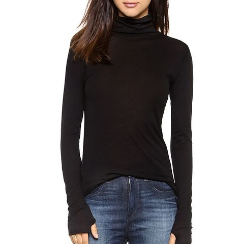 Tissue Jersey Turtleneck