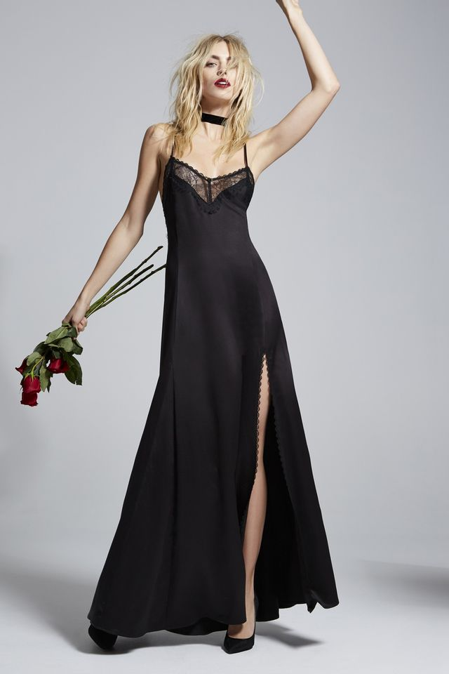 LCxNG Once and Destroy Satin Maxi Slip