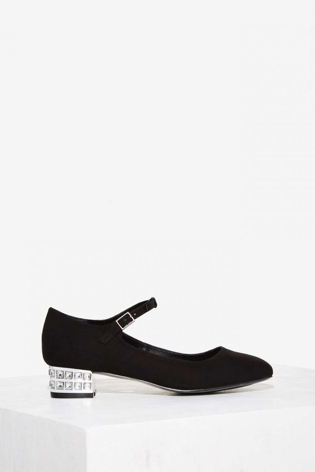 LCxNG Miss Narcissist Suede Flat