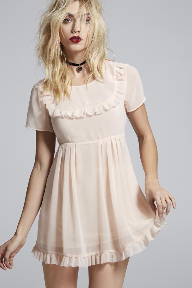 LCxNG Best Sunday Dress Sheer Babydoll