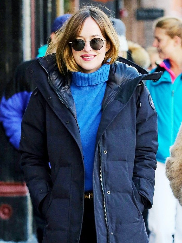 crucial how to look cute while wearing a puffy jacket who what wear. Black Bedroom Furniture Sets. Home Design Ideas