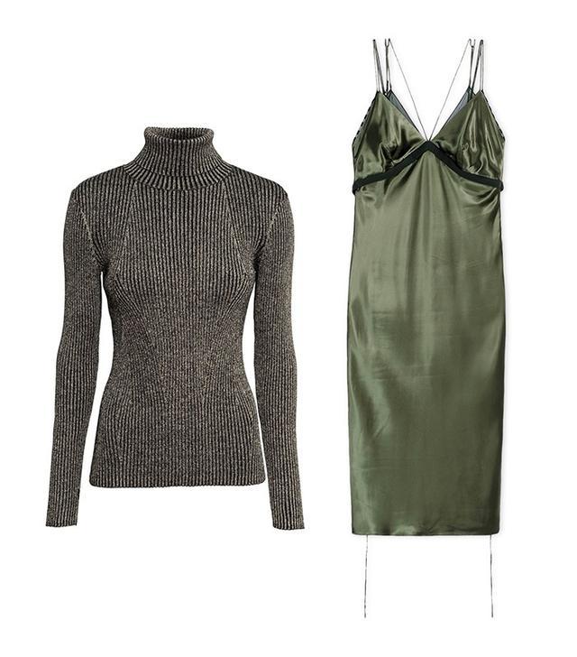 H&M Glittery Turtleneck Sweater