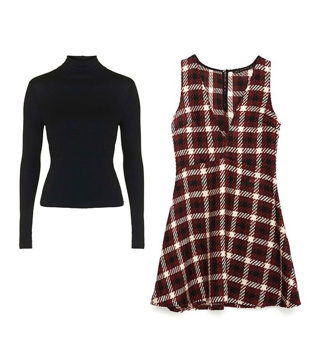 Topshop Clean Roll-Neck Top