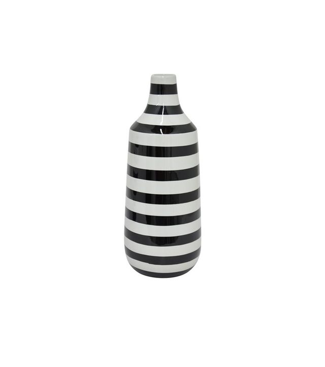 Three Hands Black and White Ceramic Vase