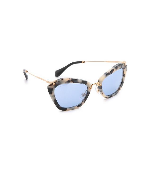 Miu Miu Matte Cat Eye Sunglasses