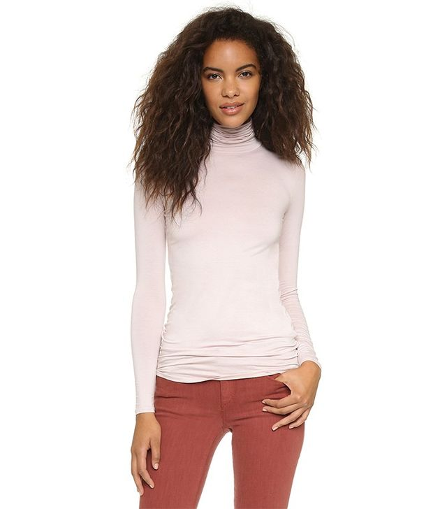 Three Dots Fitted Lightweight Turtleneck
