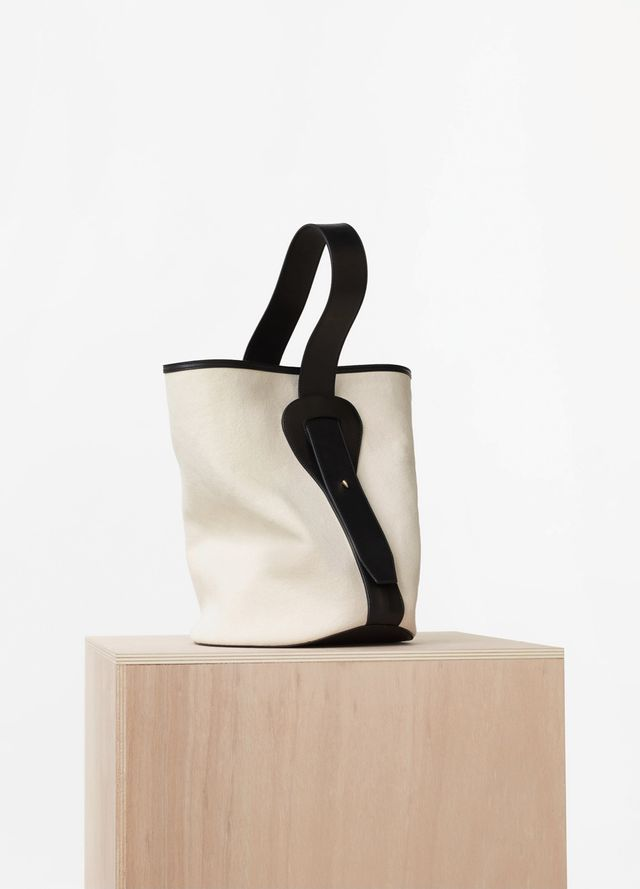 Céline Small Canvas Bucket in Washed Canvas