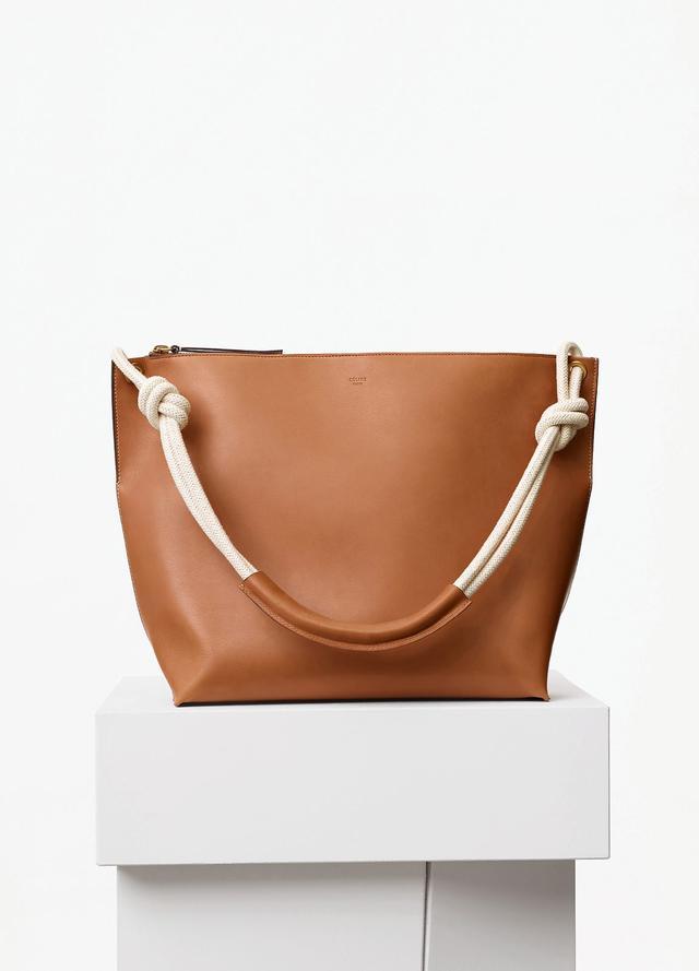 Céline Medium Sailor Bag with Cord in Tan