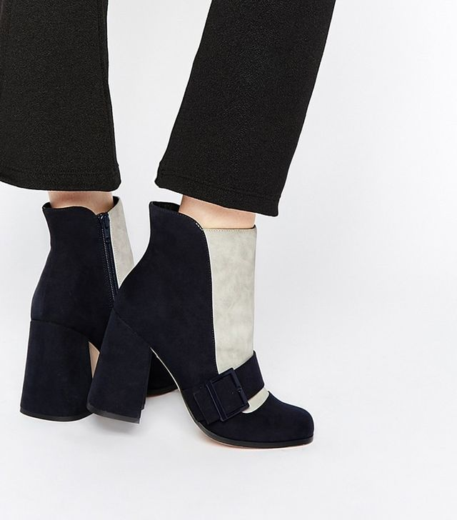 ASOS Eggshell Ankle Boots