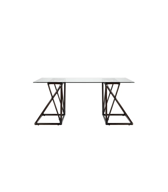 Selamat Designs Riva Desk With Glass Top