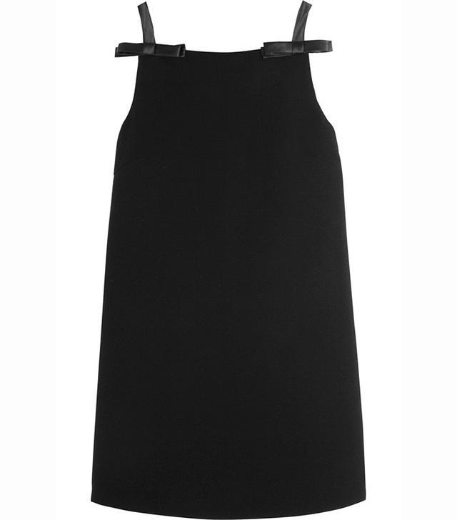 Miu Miu Bow-Embellished Cady Mini Dress