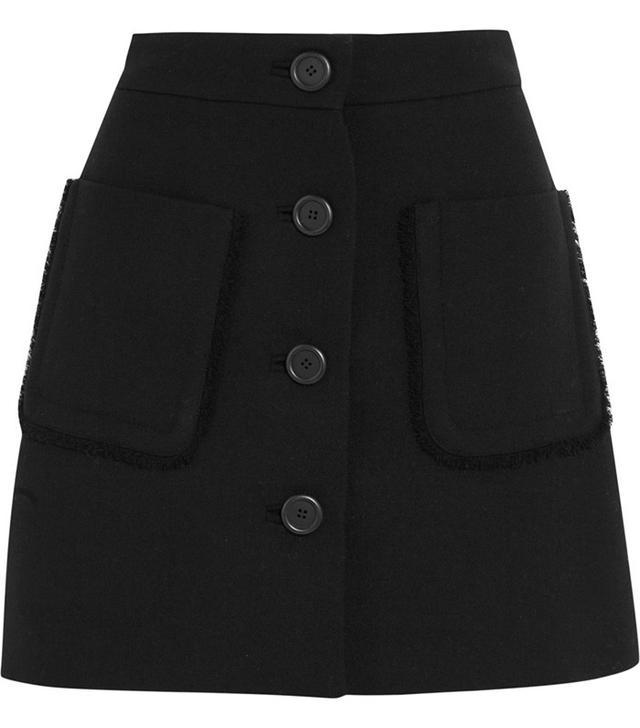 Miu Miu Wool-Crepe Mini Skirt
