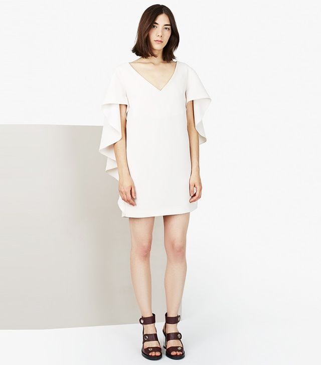Opening Ceremony Talene Crepe Cascade Sleeve Dress