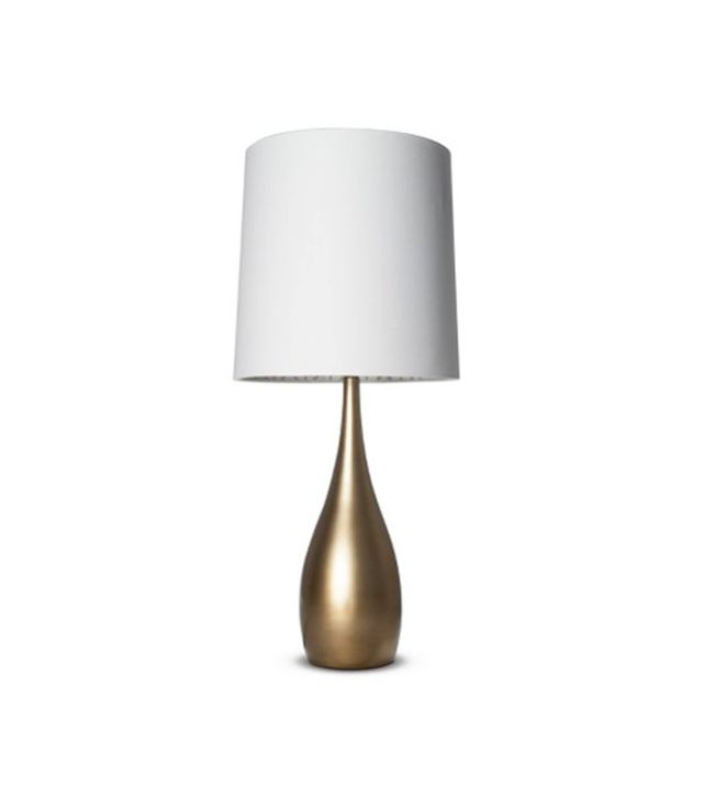 Target Bulbous Table Lamp in Antique Gold
