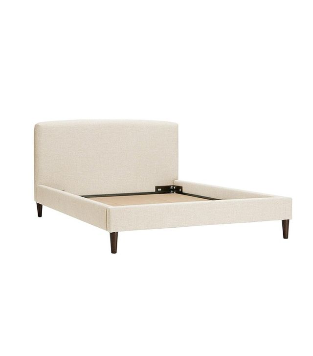 Land of Nod Full Upholstered Bed in Zuma Vanilla