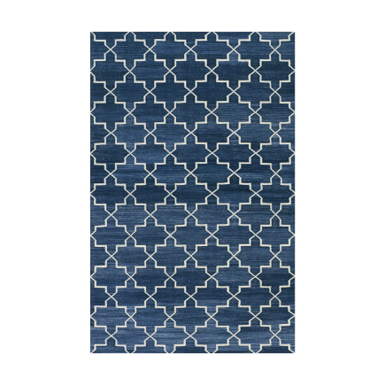 Madeline Weinrib Indigo Brooke Cotton Carpet