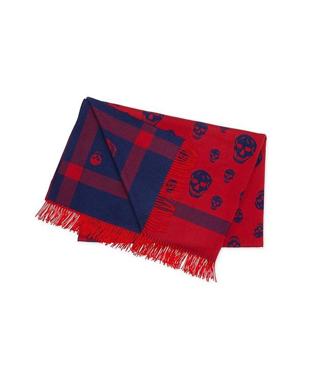 Alexander McQueen Wool Skull-Print Blanket