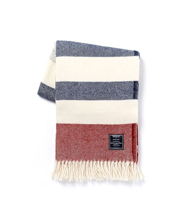 West Elm x Faribault American Stripe Wool Throw