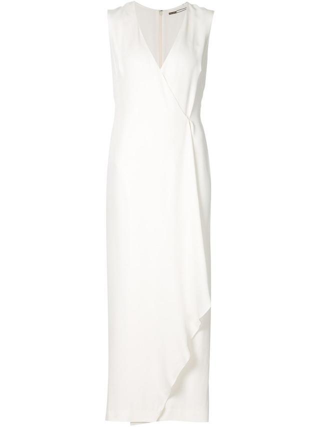 Adam Lippes V-Neck Wrap Maxi Dress